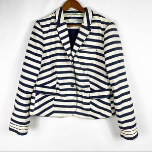 BODEN Richmond Blazer Blue/White Stripe in 18R